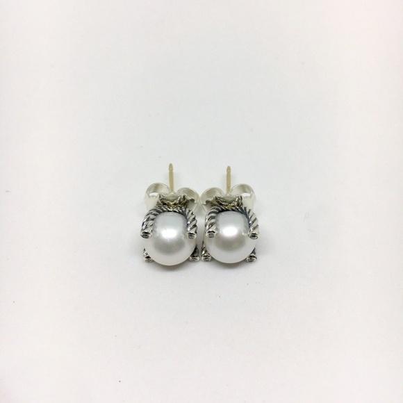 David Yurman Jewelry - David Yurman 9.5mm Pearl Earrings